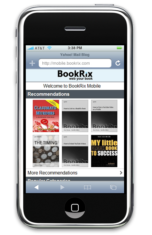 BookRix Mobile Website - Read Free Books